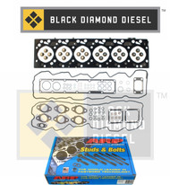 Black Diamond 03-04 Dodge 5.9 Cummins Head Gasket Set with ARP Head Studs Kit