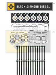 Black Diamond 07.5-15 Dodge 6.7 Cummins Head Gasket Set with Head Bolts Kit