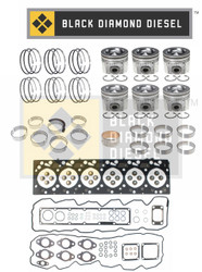 Black Diamond 07.5-18 Dodge 6.7 Cummins Engine Rebuild Kit with Pistons