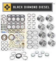 Black Diamond 99-03 Ford 7.3 Powerstroke Engine Rebuild Kit with Pistons