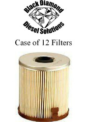 Black Diamond Prime Guard 94-97 Ford 7.3 Powerstroke Case of 12 Fuel Filters