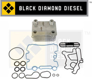 Black Diamond 03-10 Ford 6.0 Powerstroke Oil Cooler with Gaskets