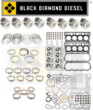 Black Diamond 03-05 Ford 6.0 Powerstroke 18MM Engine Rebuild Kit with Pistons