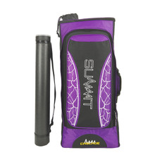 Summit Cascade Recurve Deluxe Backpack Case  w/ Tube - Purple