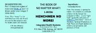 Henchmen No More!  / Colloidal Silver