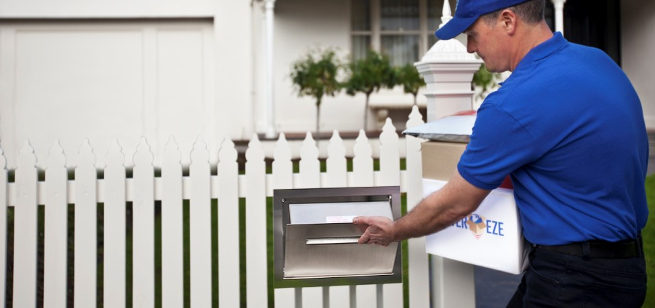 Fence parcel letterbox by Deliver-Eze presents a well integrated face to the street.