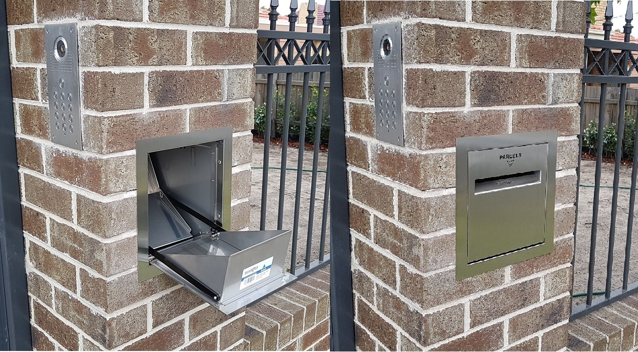 Our New Brick Letterbox For Home Parcel Delivery Deliver