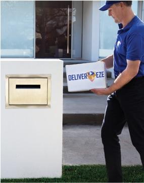 Custom stainless steel brick in letterbox parcel box