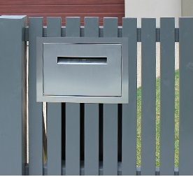Stainless steel fence wall letterbox for parcels and A4 mail.jpg