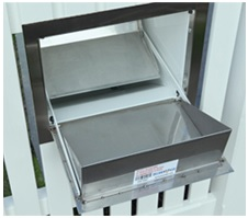 Stainless steel parcel letterbox