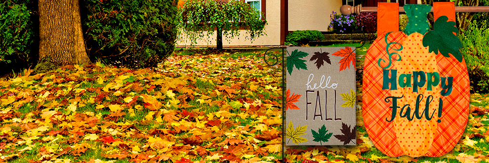 Garden Flags, Yard Flags, Seasonal Flags and Outdoor Decorations