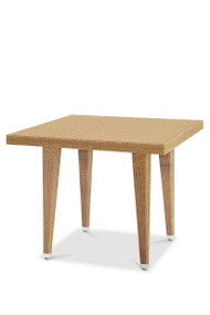 Gar Asbury Outdoor Square Woven Table with Legs