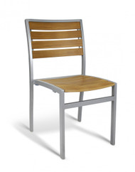 Gar Bayhead Synthetic Teak Outdoor Stacking Side Chair