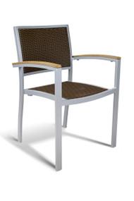 Gar Bayhead Woven Outdoor Stacking Armchair