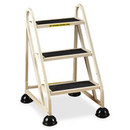 Cramer Three Step Stop-Step Rolling Stair Ladder 1030-19 - No Handrail