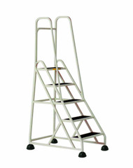 Cramer Five Step Stop-Step Rolling Stair Ladder 1053-19 - Double Handrail