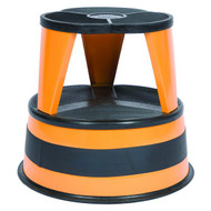 Cramer Rolling Kik Step Stool 1001-30 - High Visibility Orange