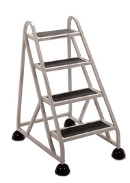 Cramer Four Step Stop-Step Rolling Stair Ladder 1040-19 - No Handrail