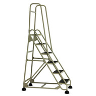 Cramer Six Step Stop-Step Rolling Stair Ladder 1063-19 - Double Handrail