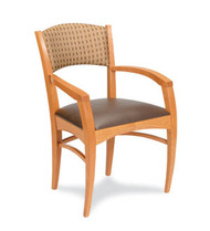 Gar 177 Series Arm Chair with Padded Seat and Padded Back
