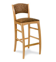 Gar 177 Series Barstool with Padded Seat and Padded Back