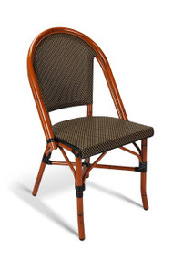 Gar Bayside Outdoor Stackable Woven Side Chair - No Arms