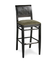 Gar Series 399 Padded Seat with Slat Back Barstool