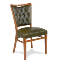 Gar Series 424 Wrap Side Side Chair with Padded Seat and Button Tufted Back