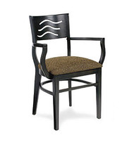 Gar Series 9634 Arm Chair with Padded Seat