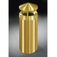 Glaro H1201BE Atlantis Canopy Top Trash Can, 12 x 39, 12 Gallon - Satin Brass