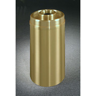 Glaro D1533BE Atlantis Donut Top Ash and Trash Receptacle, 15 x 33, 16 Gallon - Satin Brass