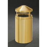 Glaro H2001BE Atlantis Canopy Top Trash Can, 20 x 42, 33 Gallon - Satin Brass