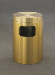 Glaro C2066BE Atlantis Flat Top Trash Can, 20 x 31, 17 Gallon - Satin Brass