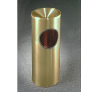 GlaroF192BE Atlantis Funnel Top Ash and Trash Receptacle, 9 x 23, 3 Gallon - Satin Brass