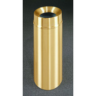 Glaro F1232BE Atlantis Funnel Top Trash Can, 12 x 32, 12 Gallon - Satin Brass