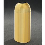 Glaro T1536BE Atlantis Open Dome Top Trash Can, 15 x 36, 16 Gallon - Satin Brass
