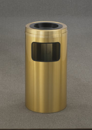 Glaro C1560BE Atlantis Sand Top Ash and Trash Receptacle, 15 x 31, 10 Gallon - Satin Brass