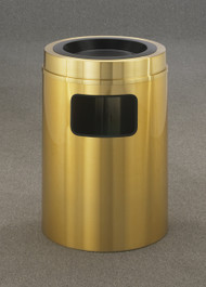 Glaro C2060BE Atlantis Sand Top Ash and Trash Receptacle, 20 x 31, 17 Gallon - Satin Brass