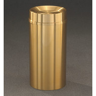 Glaro TA1232BE Atlantis Tip Action Top Trash Can, 12 x 32, 12 Gallon - Satin Brass