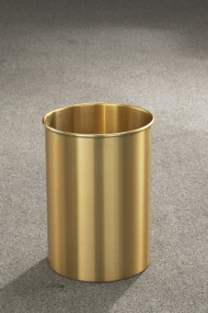 Glaro 66BE Atlantis Trash Can, 10 x 15, 5 Gallon - Satin Brass