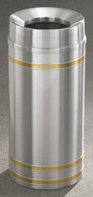 Glaro F1534 Capri Funnel Top Trash Can, 15 x 33, 16 Gallon