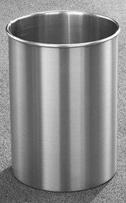 Glaro 66SA  New Yorker Trash Can, 10 x 15, 5 Gallon - Satin Aluminum