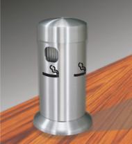 Glaro 4405SA Tabletop Smoking Post - Satin Aluminum