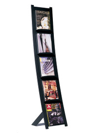 Magnuson 7050-9311 Freestanding Magazine Rack - Black