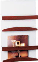 Peter Pepper 4032 Wall Mount Vertical Magazine Rack - 2 Pockets
