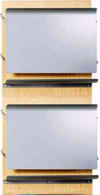 Peter Pepper 4092 HIPAA Pivot Front Medical File & Chart Holder - 2 Pockets