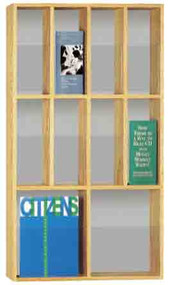 Peter Pepper 606 Vertical Magazine Rack - 10 Pocket
