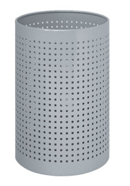 "Peter Pepper 222 Cylindrical Steel Perforated 10"" Diameter Wastebasket - 2 Finishes"