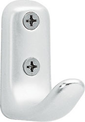 Peter Pepper 2057 Aluminum Single Prong Coat Hook