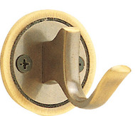 Peter Pepper 2062 Brass Single Prong Coat Hook